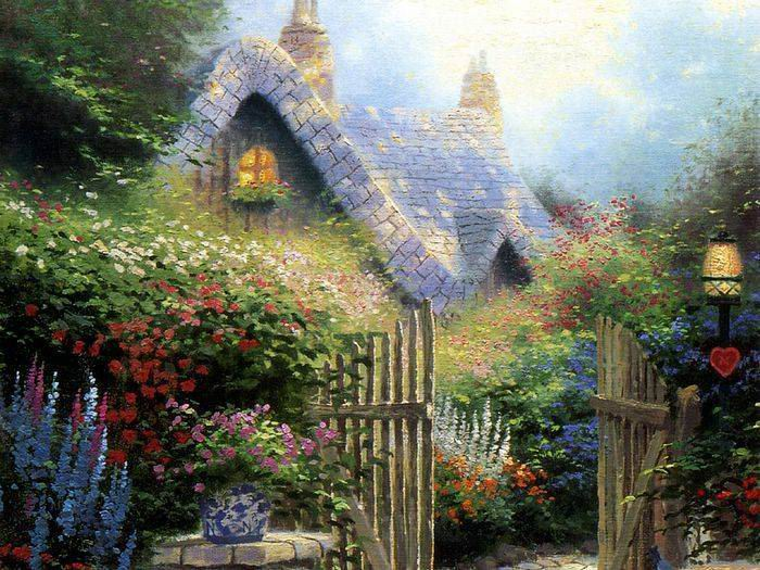 Reproductions of Thomas Kinkade paintings, NO.15