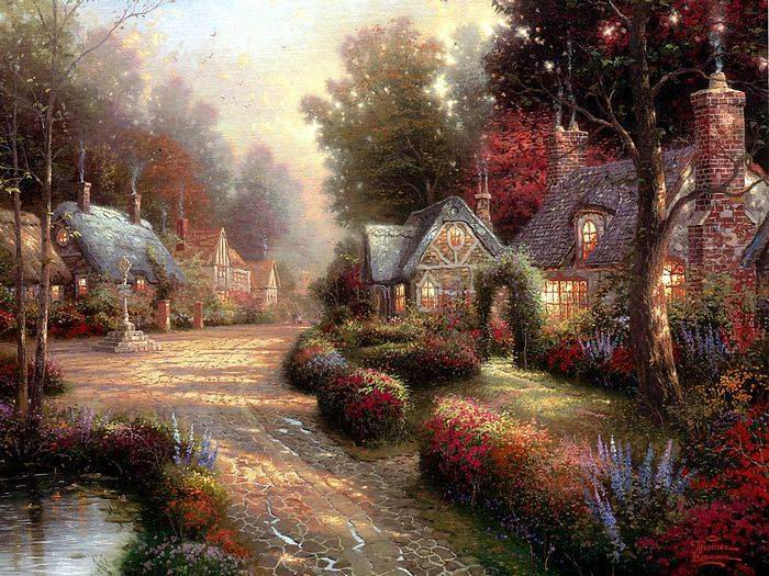 Thomas Kinkade paintings, NO.18 Reproductions of paintings