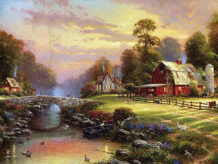 Reproductions of Thomas Kinkade's painting, NO.41