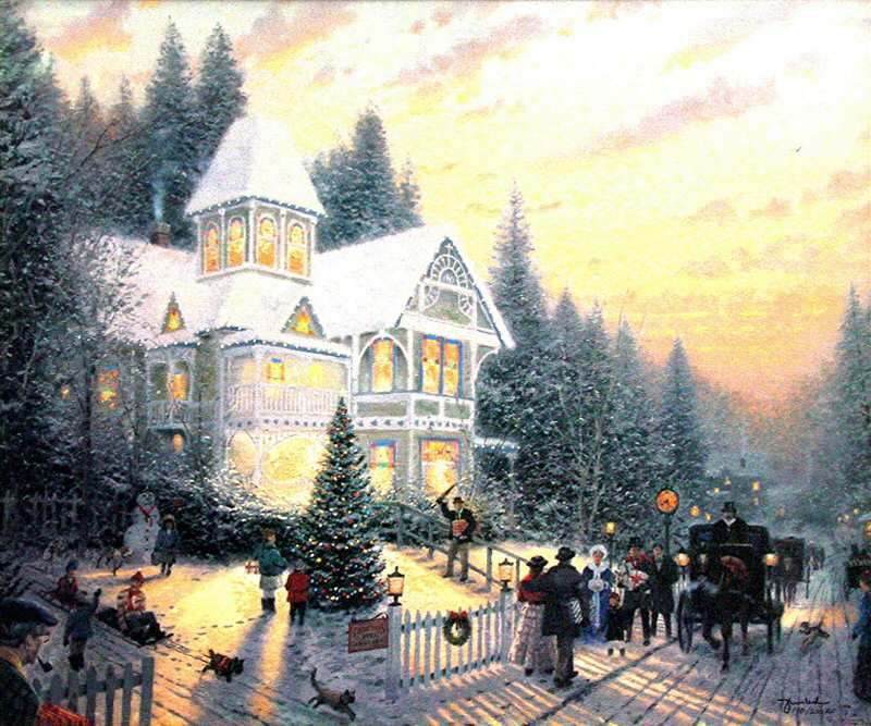 Thomas Kinkade Victorian Christmas I Reproductions of paintings