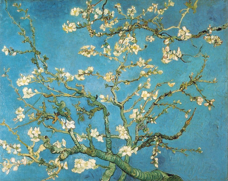 Van Gogh paintings artwork branches of an almond tree in blossom