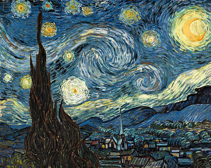 Reproductions of Van Gogh paintings artwork Starry Night 1889