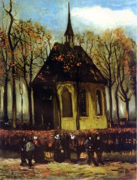 Reproduction of Van Gogh paintings artwork Chapel at Nuenen