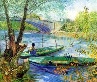 Reproduction of Van Gogh paintings artwork Fishing In Spring