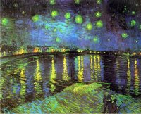 Van Gogh paintings artwork Starry Night Over The Rhone