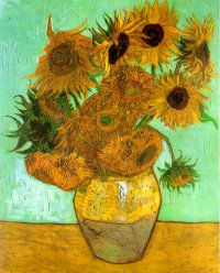 Reproduction of Vase With Twelve Sunflowers